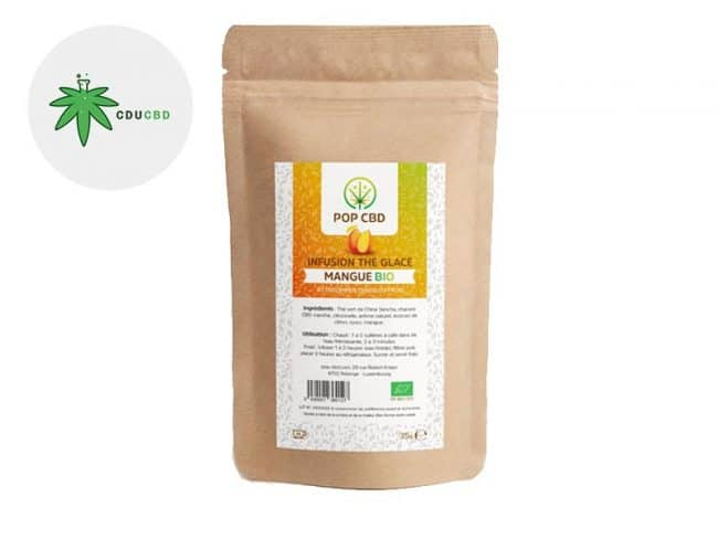 Infusion CBD Thé glacé chanvre Mangue - Pop CBD