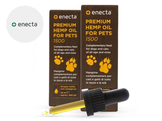 Pack 2 Huiles CBD pour Animaux 5% (60ml) Enecta