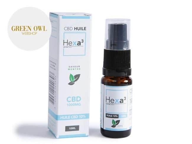 Huile CBD 10% Bio Menthe (10ml) - Hexacube