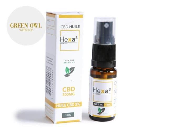 Huile CBD 3% Bio Menthe (10ml) - Hexacube