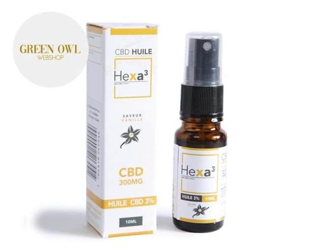 Huile CBD 3% Bio Vanille (10ml) - Hexacube