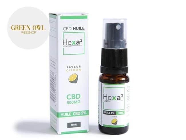 Huile CBD 5% Bio Citron (10ml) - Hexacube