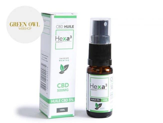 Huile CBD 5% Bio Menthe (10ml) - Hexacube