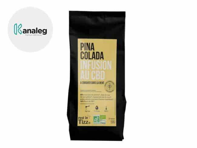 Infusion CBD Tisane bio Pina Colada - Tizz