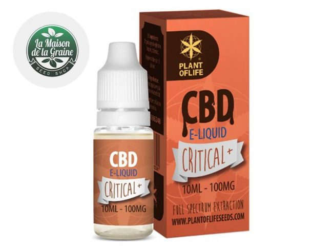E liquide Critical CBD (100mg) - Plantoflife