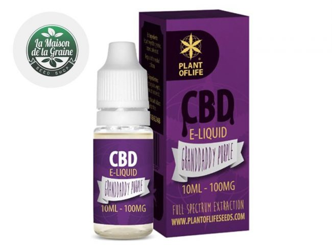 E liquide Granddaddy Purple CBD (100mg) - Plantoflife
