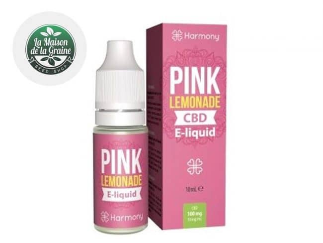 E liquide Pink Limonade CBD (600mg) - Harmony