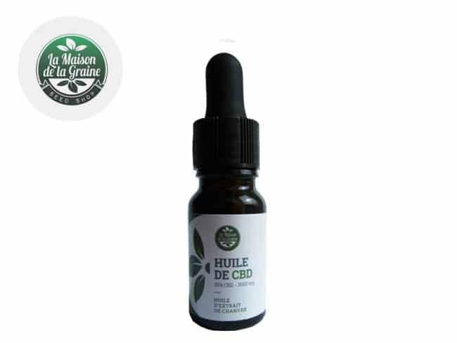 Huile CBD 30% Bio (10ml) - La Maison De La Graine