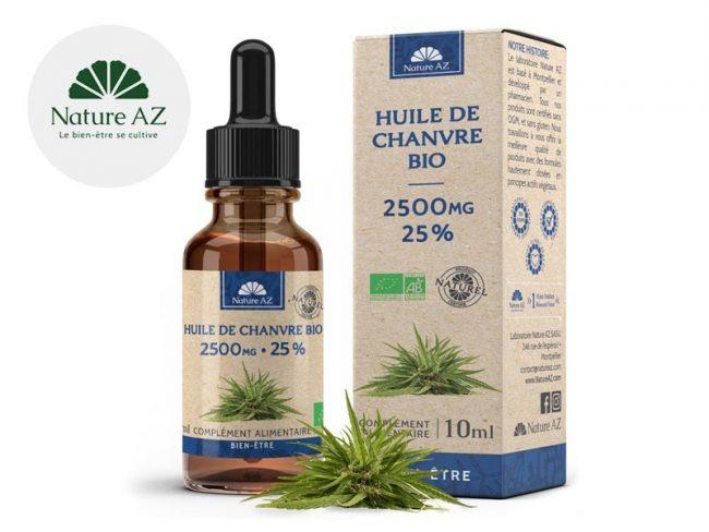 Huile CBD 25% Bio (10ml) - NatureAZ