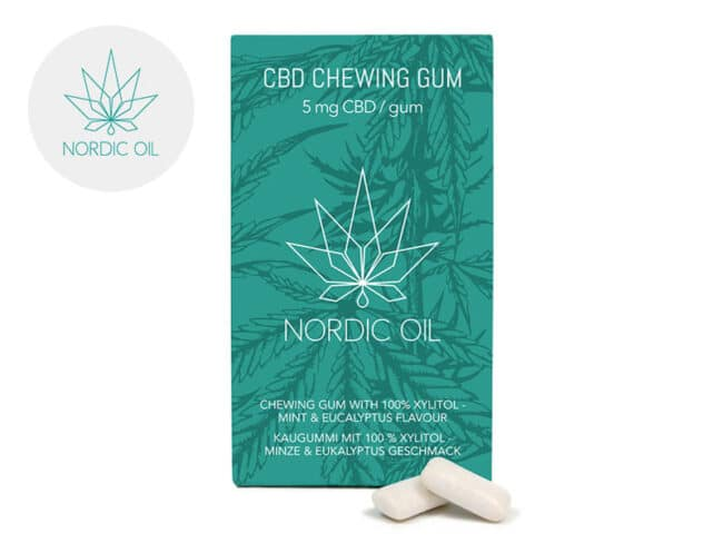 Chewing-gums Menthe CBD (Nordic Oil)