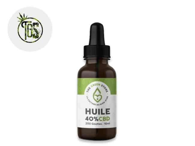 Huile CBD 40% Bio (10ml) - The Green Store