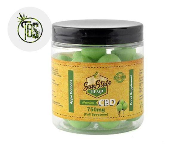 Bonbons Pomme CBD (Sunstate)