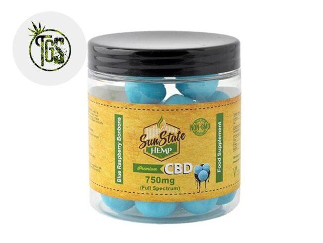 Bonbons Framboise Bleue CBD (Sunstate)