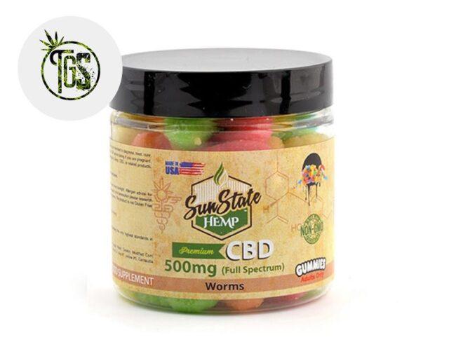 Bonbons Vers Acidulés CBD (Sunstate)