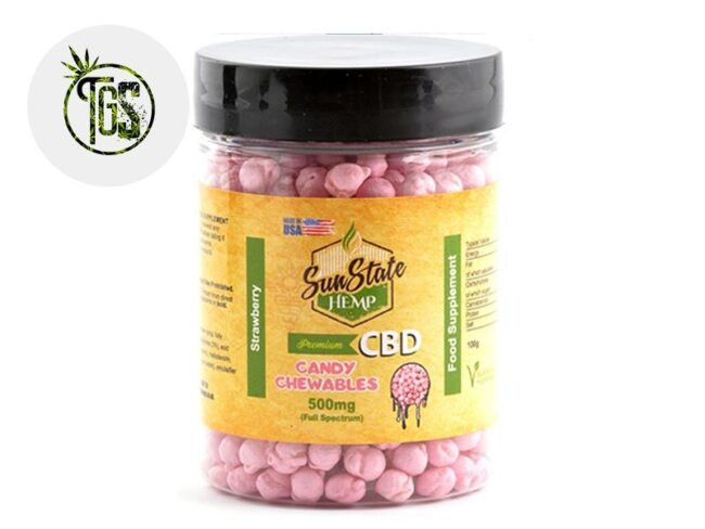 Chewing-gums Fraise CBD (Sunstate)