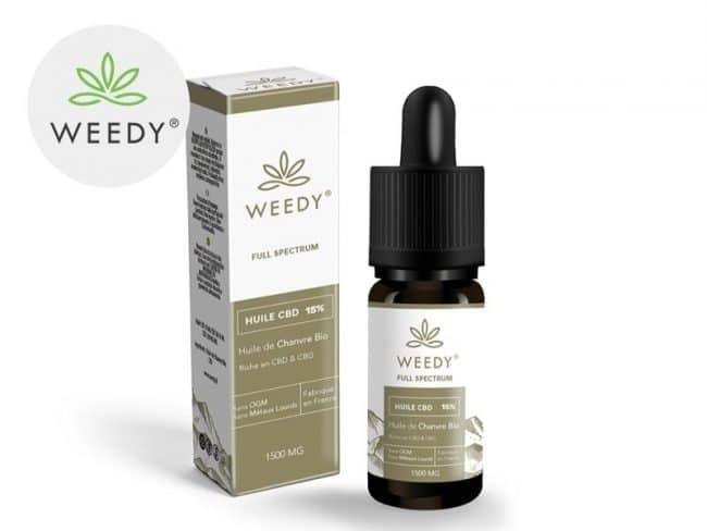 Huile CBD 15% Bio (10ml) - Weedy